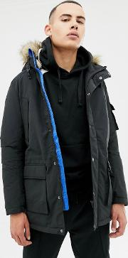 Originals Parka With Borg Lining And Faux Fur Hood