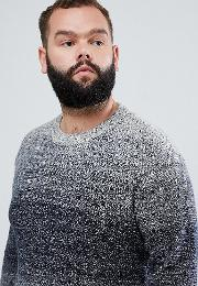 Originals Plus Size Knitted Jumper With Mixed Yarn Fade