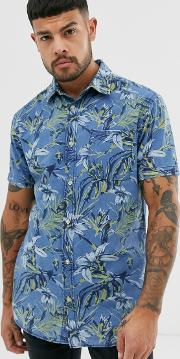 Originals Printed Short Sleeve Shirt Blue