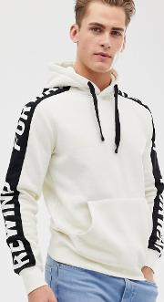 Panel Taped Over Head Hoodie