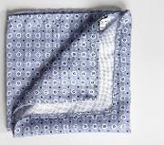 pocket square with floral print  grey