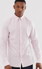 Premium Slim Fit Stretch Oxford Shirt