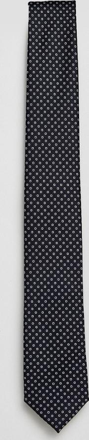 tie with dot in navy