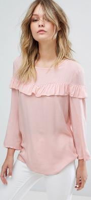 laura frill front blouse