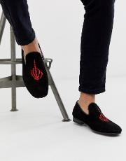 Martini Embroidered Loafers Suede