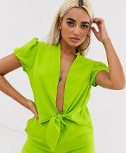Wrap Crop Top Co Ord