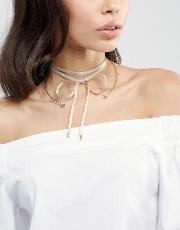 aria mink and gold choker necklace