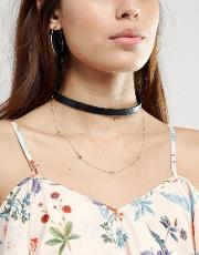 double layered choker necklace