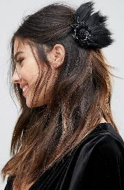 Faux Feather Hair Slide