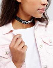 Statement Embellished Choker Necklace