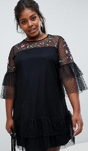 Tulle Embroidered Dress