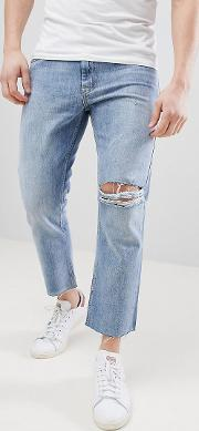 90's fit cropped jeans
