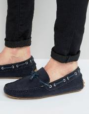 Kg By Kurt Geiger Driving Loafers  Navy Suede