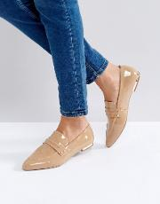 kg by kurt geiger kilma camel leather patent loafers