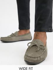 Kg By Kurt Geiger Wide Fit Driving Shoes Suede