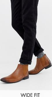 Kg By Kurt Geiger Wide Fit Leather Chelsea Boots
