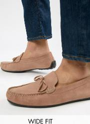 Kg By Kurt Geiger Wide Fit Ringwood Driving Shoes Suede