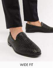 Kg By Kurt Geiger Wide Fit Woven Loafers