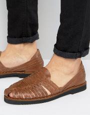 kg by kurt geiger woven sandals in tan leather