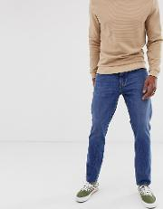 Daniel Marble Wash Relaxed Tapered Fit Jeans