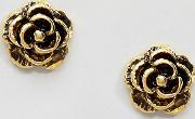 Gold Plated Rose Stud Earrings