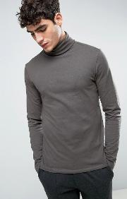 long sleeve t shirt with roll neck