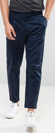 Pleat Front Chinos  Navy