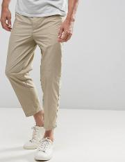 slim fit cropped chino  beige