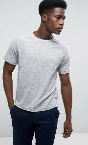 t shirt in towelling fabric with raglan sleeves