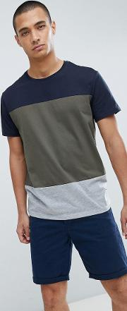 t shirt with colour block