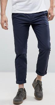 tapered fit chinos with pleated waistband