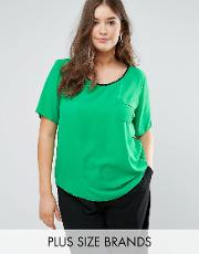 pu piped blouse