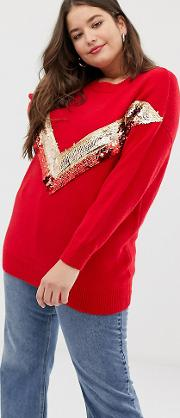Sequin Trim Jumper