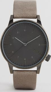winston regal leather watch  beige