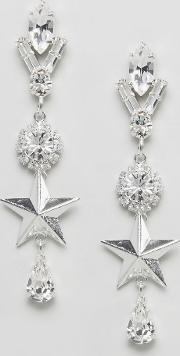 london swarovski crystal shining star earrings