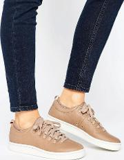 k swiss roy ankle sock trainers  taupe