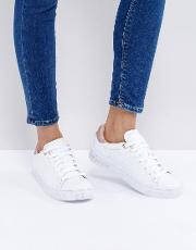 kswiss court frasco trainers  white and pearl pink