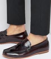 Tassel Loafers In Burgundy