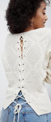 criss cross back knitted jumper