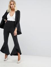 Frill Fitted Trousers