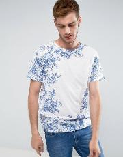 botanical printed  shirt