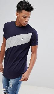 diagonal panel t shirt