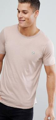 longline raw edge t shirt
