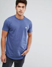raw edge longline t shirt