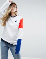 Boyfriend Sweatshirt With Tricolores Sleeve