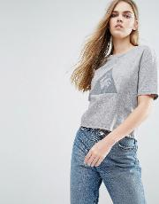cropped t shirt with large logo