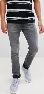 jeans luke slim tapered  in grey worn