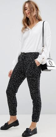 Flecked Knitted Trousers