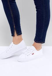 Canvas Shoe With Red Tab