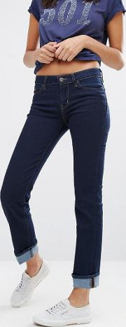 Levi's 714 Straight Mid Rise Jeans